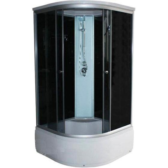 Душевая кабина FINN 9090 выс. поддон (черная)