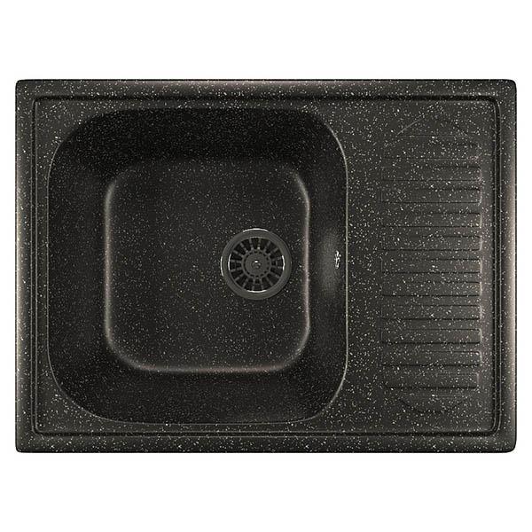Мойка ML-GM 18 черная 308 д 490х645х190