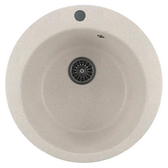 Мойка ML-GM13 круглая белая