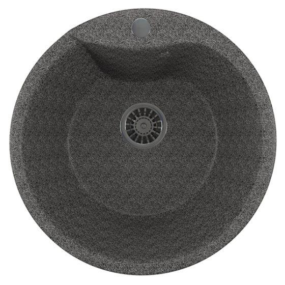 Мойка композит ML-GM12 круглая терракот (485мм)