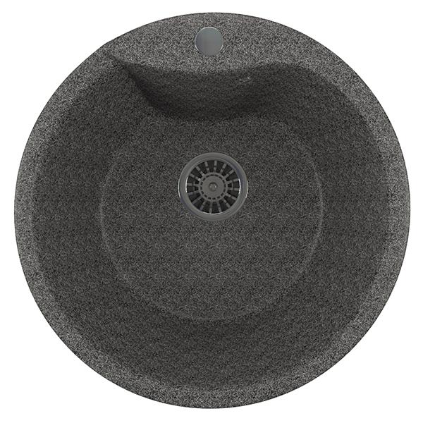 Moyka kompozit ML GM kruglaya terrakot mm