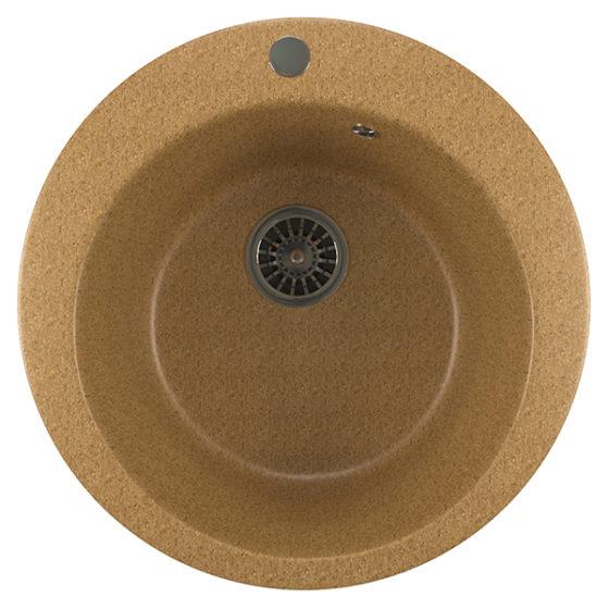 Мойка композит ML-GM13 кругл песочная (495мм)